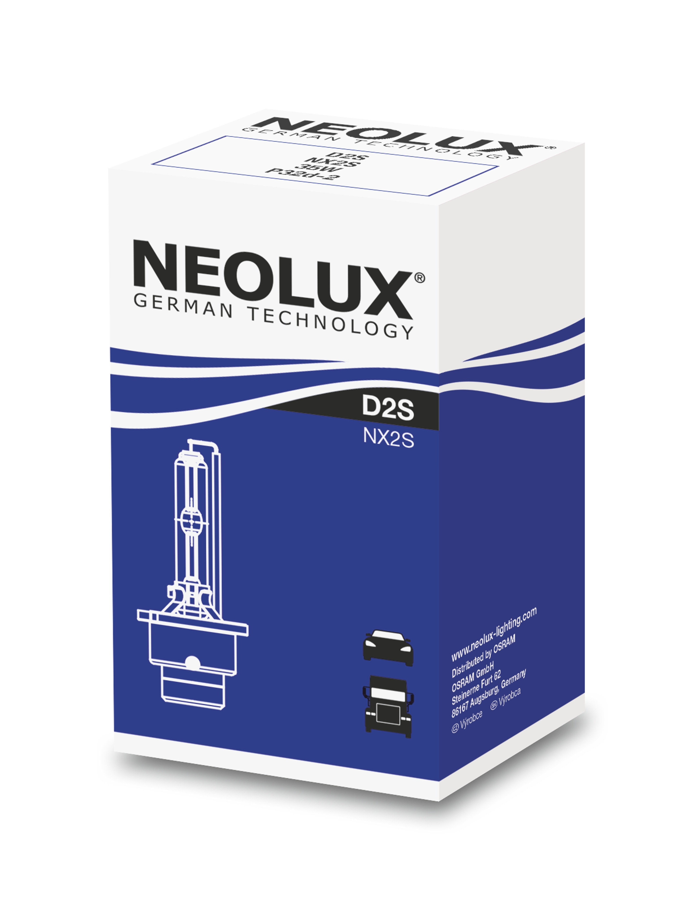 NEOLUX xenonová výbojka D2S XENARC Standart 12/24V 35W P32d-2 4300K živ.1500h (Krabička 1ks)
