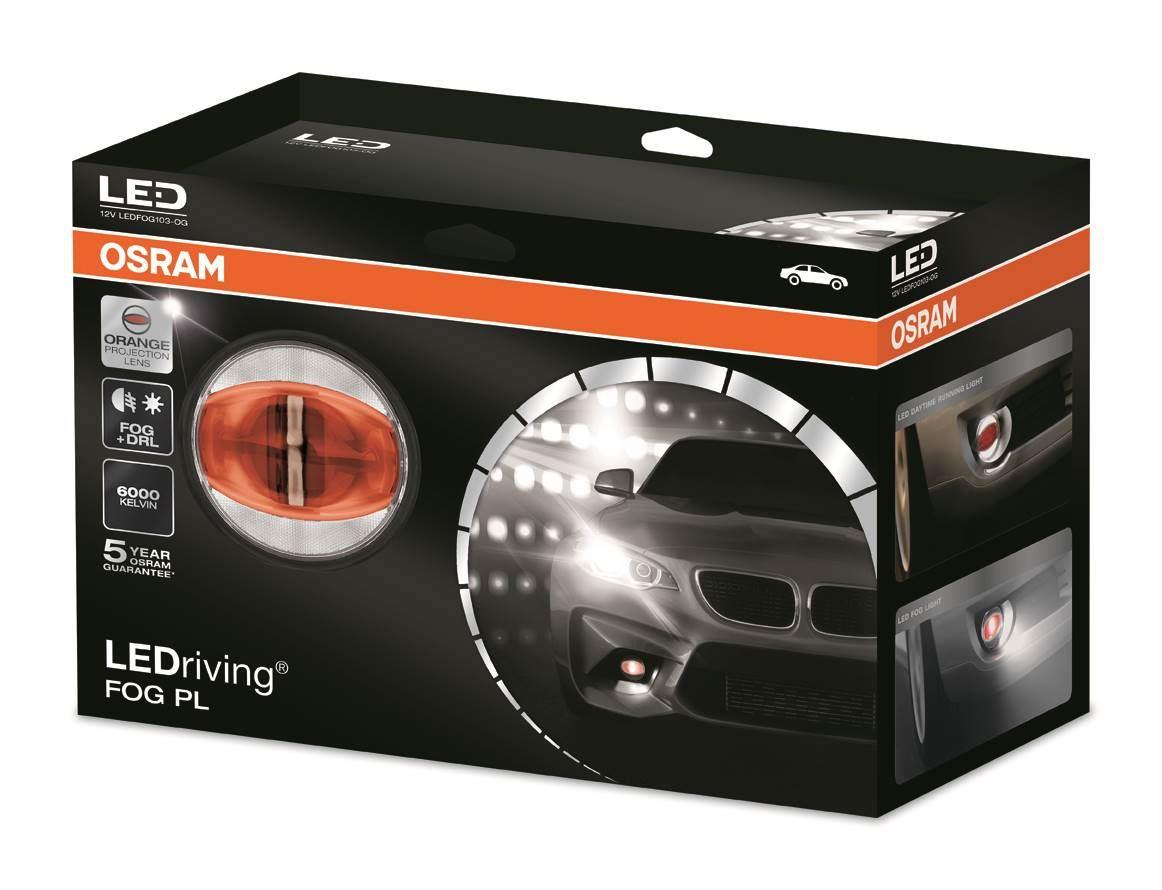 OSRAM Mlhové + denní svícení LEDriving FOG PL 12V 14/24W 6000K oranžová (Kufřík)