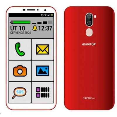 Aligator S5710 Duo Senior, 16 GB, červená