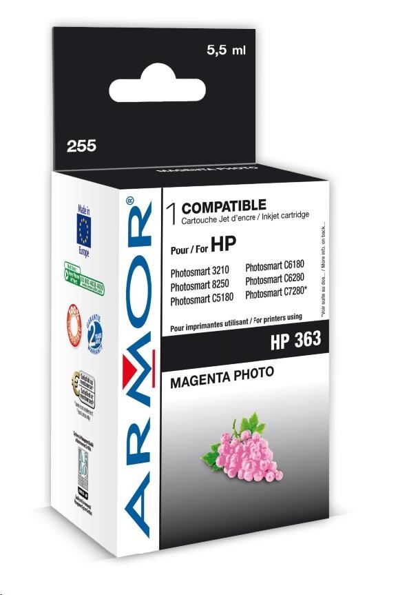 ARMOR cartridge pro HP Photosmart 8250, PSC3210, C5180 Photo Magenta (C8775E)