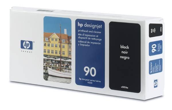 HP 90 Black Printhead + Printhead Cleaner, C5054A