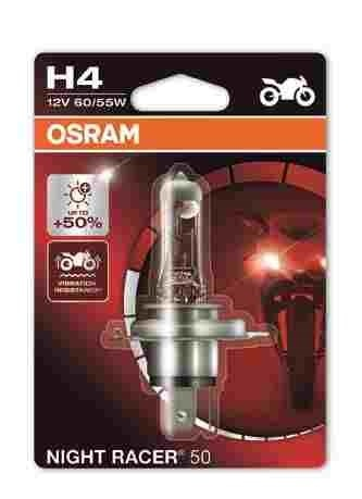 OSRAM motožárovka H4 MOTO Night Racer 50 12V 60/55W P43t (Blistr 1ks)