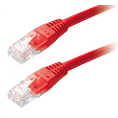 Patch kabel Cat5E, UTP - 3m, červený