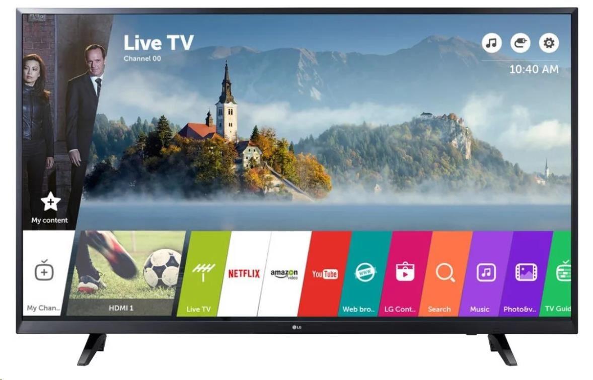 "LG 49UJ620V Smart LED TV, 49"" 123 cm, UHD 3840x2160, DVB-C/T/T2/S/S2, USB, HDMI, WiFi"