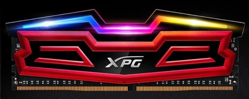 DIMM DDR4 8GB 3000MHz CL16 (KIT 1x8GB) ADATA XPG SPECTRIX D40, Red