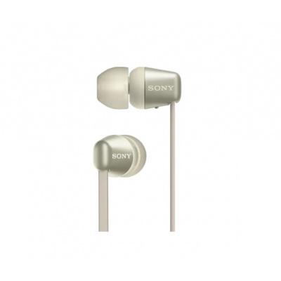 SONY bezdrátová stereo sluchátka WI-C310, zlatá