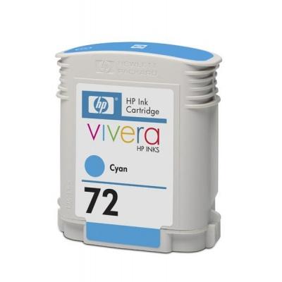 HP 72 Cyan DJ Ink Cart, 69 ml, C9398A