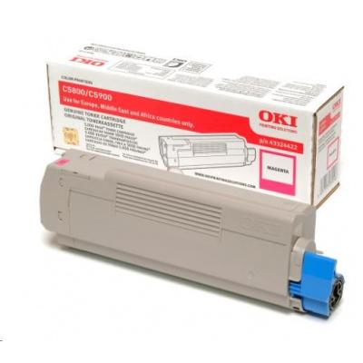 Oki Toner Magenta do C5800/C5900/C5550 MFP (5 000 stránek)