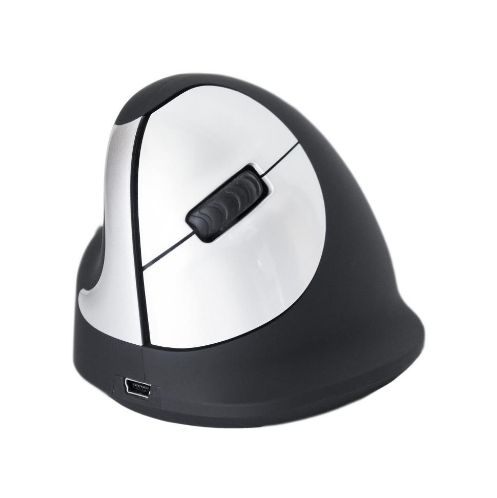 R-Go HE - Ergonomická vertikální myš, pro leváky, bezdrátová (M)