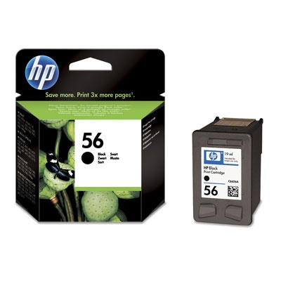 HP 56 Black Ink cart, 19 ml, C6656AE