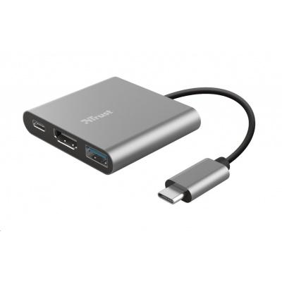 TRUST adaptér DALYX, 3-in-1, USB-C