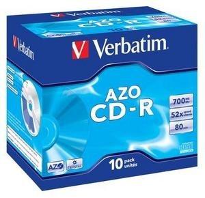 VERBATIM CD-R(10-Pack)Jewel/Crystal/DLP/52x/700MB