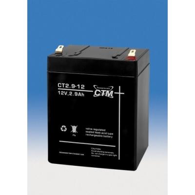 Baterie - CTM CT 12-2,9 (12V/2,9Ah - Faston 187), životnost 5let