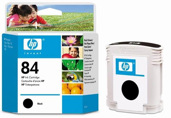 HP 84 Black DJ Ink Cart, 69 ml, C5016A