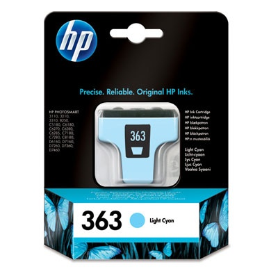 HP 363 Light Cyan Ink Cart, 5,5 ml, C8774EE