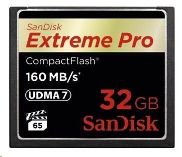 SanDisk Compact Flash Card Extreme Pro (160MB/s) 32GB VPG 65, UDMA 7