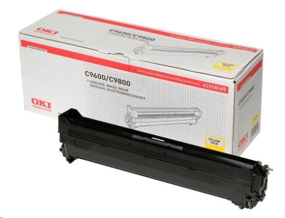 Oki Obraz. válec pro žlutý toner do C9600/C9650/C9655//C9800/C9850/C9800MFP/C9850MFP (30k)