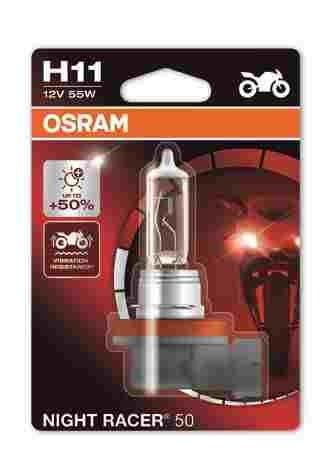 OSRAM motožárovka H11 MOTO Night Racer 50 12V 55W PGJ19-2 (Blistr 1ks)