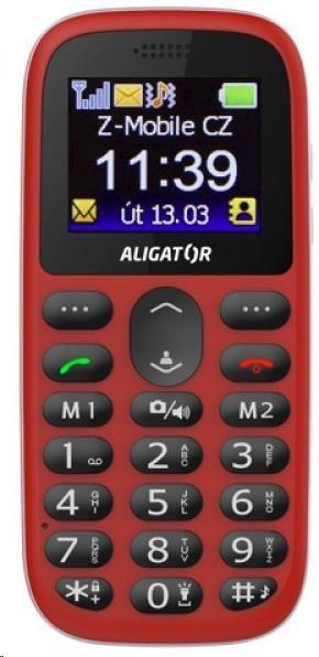Aligator A510 Senior, červená + nabíjecí stojánek