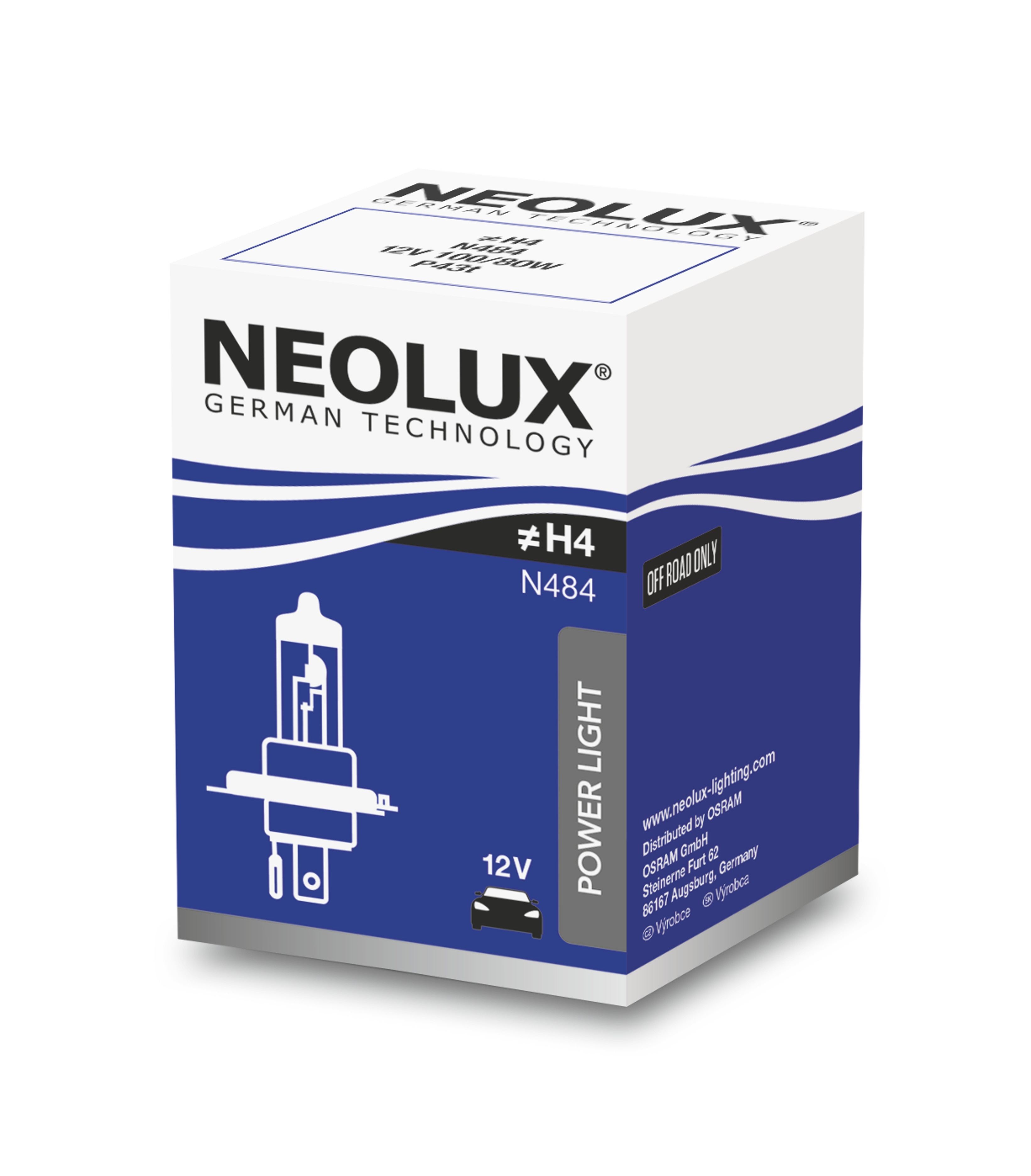 "NEOLUX autožárovka ""H4"" STANDARD 12V 100/80W P43t (Krabička 1ks)"