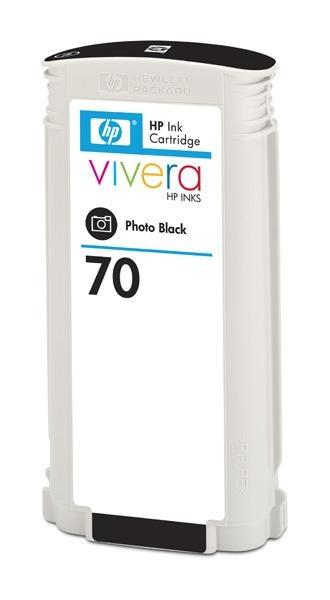 HP 70 Black DJ Ink Cart, 130 ml, C9449A