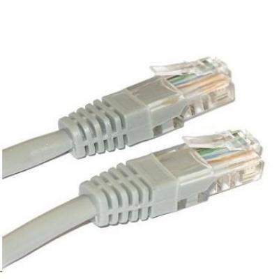 Patch kabel Cat5E, UTP, křížený - 5m, šedý