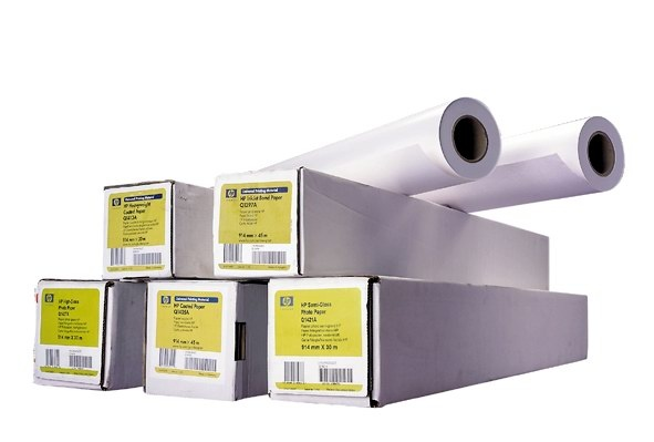 HP Bright White Inkjet Paper-594 mm x 45.7 m (23 in x 150 ft), 4.8 mil, 90 g/m2, Q1445A