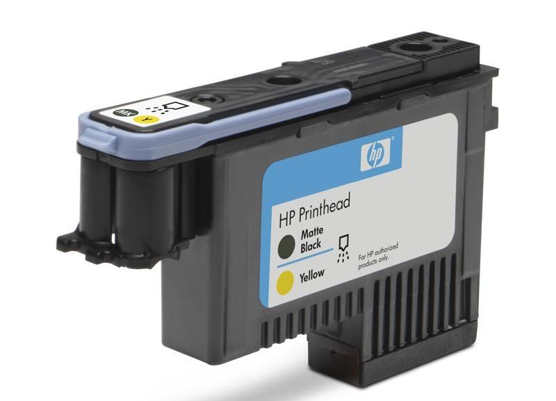HP 72 Black matte + Yellow DJ Printhead, C9384A