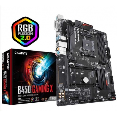GIGABYTE MB Sc AM4 B450 GAMING X, AMD B450, 4xDDR4, VGA, ATX
