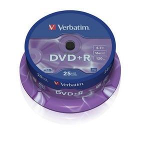 VERBATIM DVD+R(25-Pack)Spindle/General Retail/16x/4.7GB