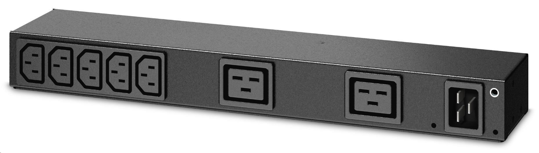 APC Rack PDU, Basic, 0U/1U, 100-240V/20A, 220-240V/16A, (7) C13, (2) C19, IEC-320 C20