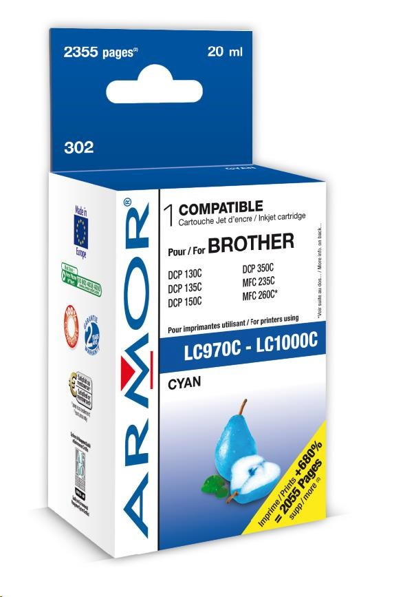 ARMOR cartridge pro BROTHER DCP-130/330 Cyan (LC970/1000C)