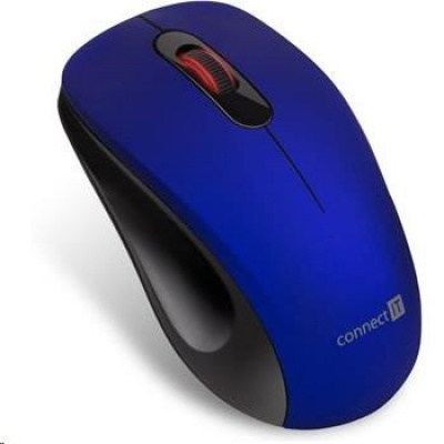 """CONNECT IT """"MUTE"""" bezdrátová optická tichá myš, USB, (+ 1x AA baterie zdarma), modrá"""