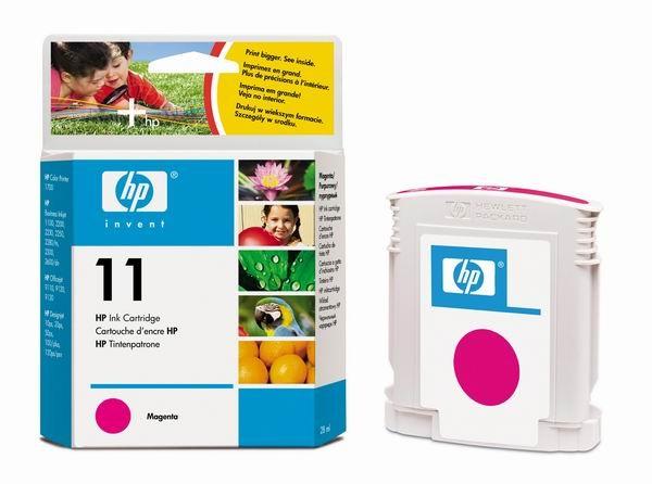HP 11 Magenta Ink Cart, 28 ml, C4837A