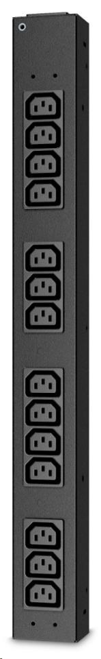 APC Rack PDU, Basic, Half Height, 100-240V/20A, 220-240V/16A, (14) C13, IEC-320 C20
