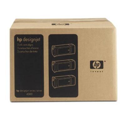 HP 90 Magenta DJ Ink Cart, 400 ml, 3-pack, C5084A